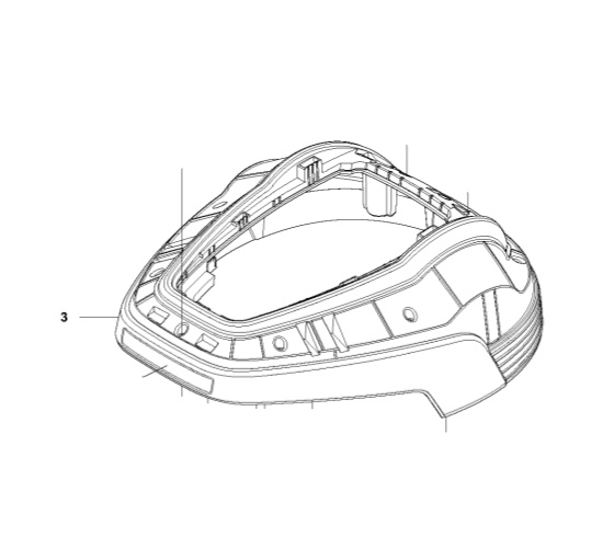 Body Kit in the group Spare Parts Robotic Lawn Mower / Spare parts Gardena R70Li / Gardena R70Li - 2015 at GPLSHOP (5793917-01)